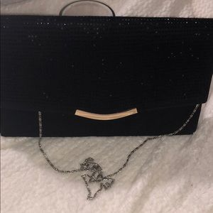 BLACK vintage clutch with Black sequince